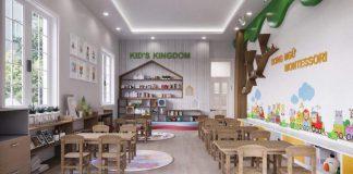 Cơ sở vật chất trường mầm non Kid's Kingdom tại quận Thanh Xuân, Hà Nội (Ảnh: FB trường)