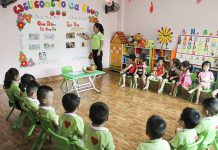 Trường mầm non Cherry - Anh Đào quận Hoàng Mai, Hà Nội (Ảnh: chochungcu.com)