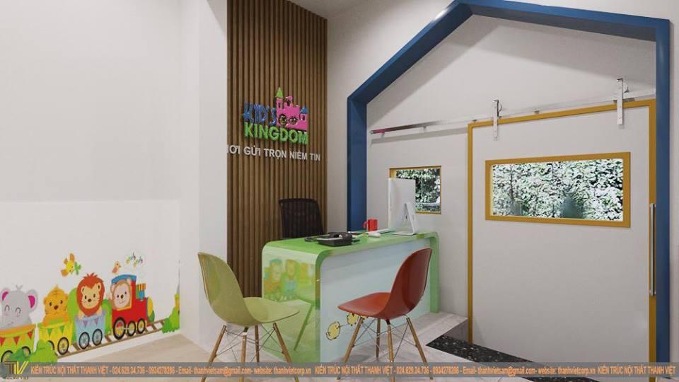 Trường mầm non Kid's Kingdom tại quận Thanh Xuân, Hà Nội (Ảnh: FB trường)