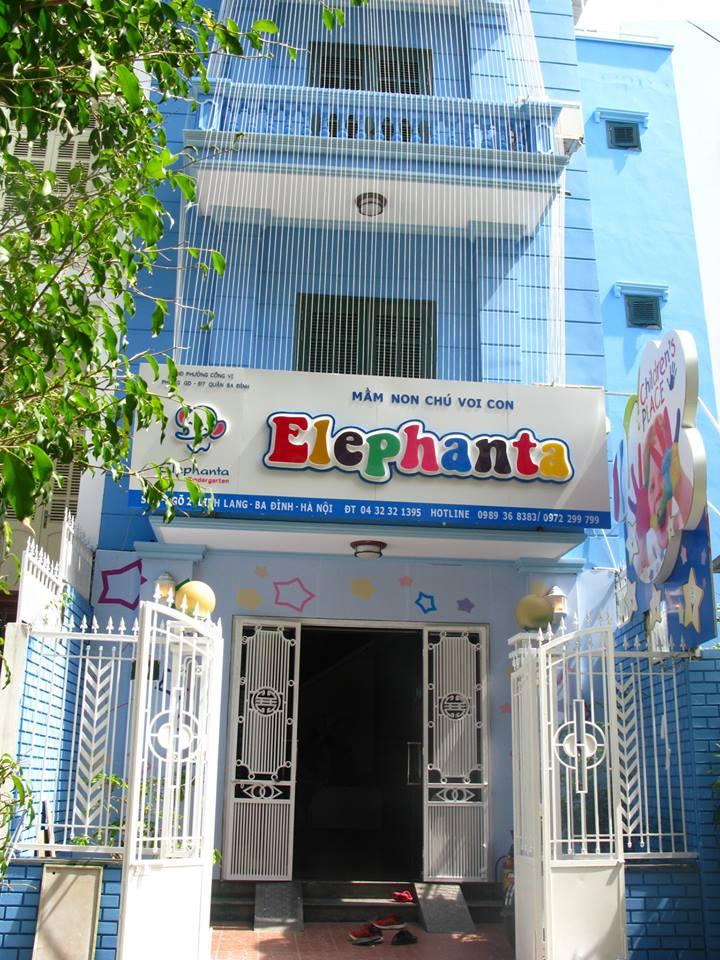 Cơ sở vật chất trường mầm non song ngữ Elephanta, quận Ba Đình, Hà Nội (Ảnh: FB Trường)