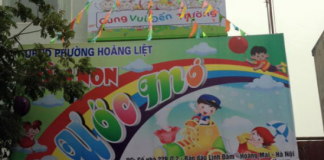 trường mầm non Ước Mơ tại quận Hoàng Mai, Hà Nội (Ảnh: chochungcu.com)