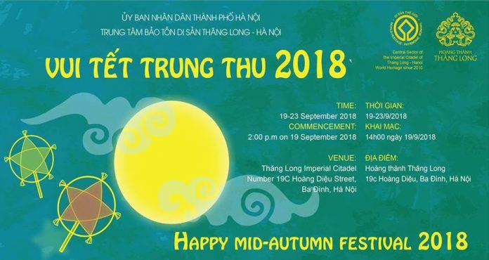 Vui Tết Trung Thu 2018 tại Hoàng Thành Thăng Long (Ảnh: FB Hoàng Thành Thăng Long)