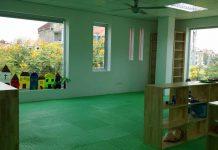 Cơ sở vật chất trường mầm non Cánh Hạc Bay - Flamingo tại quận Tây Hồ, Hà Nội (Ảnh: FB trường)