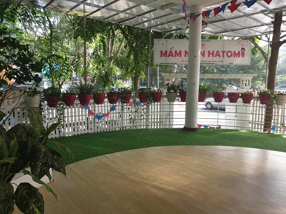 Cơ sở vật chất trường mầm non Hatomi tại quận Nam Từ Liêm, Hà Nội (Ảnh: FB trường)