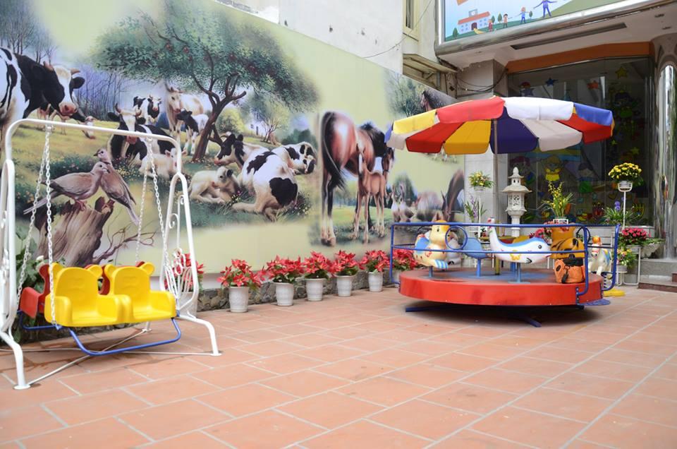 Cơ sở vật chất trường mầm non Hồng Ngọc tại quận Ba Đình, Hà Nội (Ảnh: FB trường)