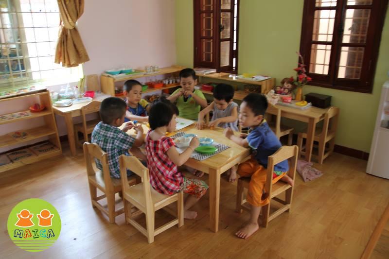 Cơ sở vật chất trường mầm non Mai Ca tại quận Thanh Xuân, Hà Nội (Ảnh: FB trường)