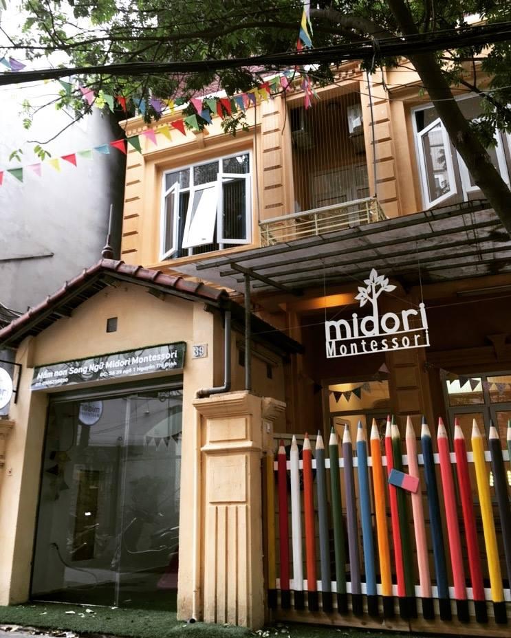 Cơ sở vật chất trường mầm non Midori Montessori tại quận Cầu Giấy, Hà Nội (Ảnh: FB trường)