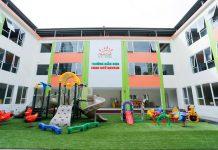 Cơ sở vật chất trường mầm non New Sun tại quận Nam Từ Liêm, Hà Nội (Ảnh: FB trường)