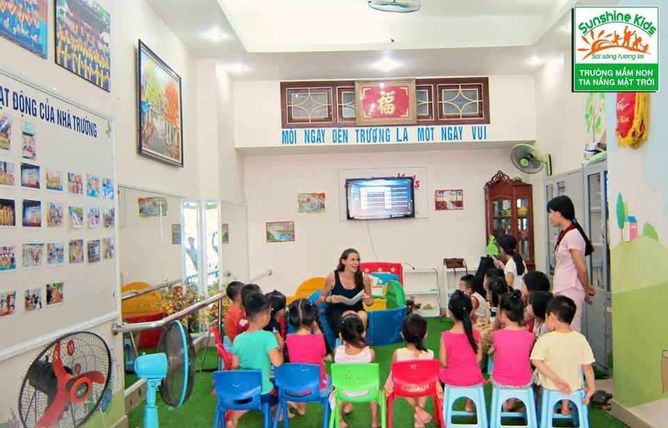 Cơ sở vật chất trường mầm non Sunshine Kids - Tia nắng mặt trời tại quận Nam Từ Liêm - Hà Nội (Ảnh: FB trường)