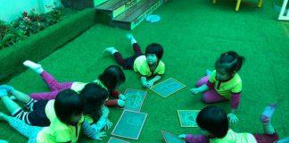 Cơ sở vật chất trường mầm non Thánh Gióng tại quận Long Biên, Hà Nội (Ảnh: FB trường)