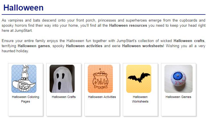 Tổng hợp trang web để tải miễn phí trò chơi, hoạt động Halloween (Ảnh: JumpStart)