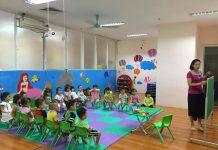 trường mầm non Vườn Trẻ Thơ - Kid's Garden tại quận Hai Bà Trưng, Hoàng Mai, Hà Nội (Ảnh: FB trường)