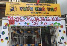 Trường mầm non Kindy Garden tại quận Ba Đình, Hà Nội (Ảnh: FB trường)
