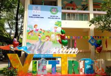 trường mầm non Việt Triều Hữu nghị tại quận Đống Đa, Hà Nội (Ảnh: website trường)