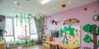 Cơ sở vật chất trường mầm non GreenKids tại quận Hà Đông, Hà Nội (Ảnh: FB trường)