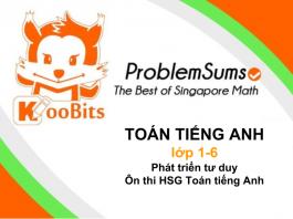 Toán Tiếng Anh Singapore KooBits (Ảnh: Contuhoc.com)