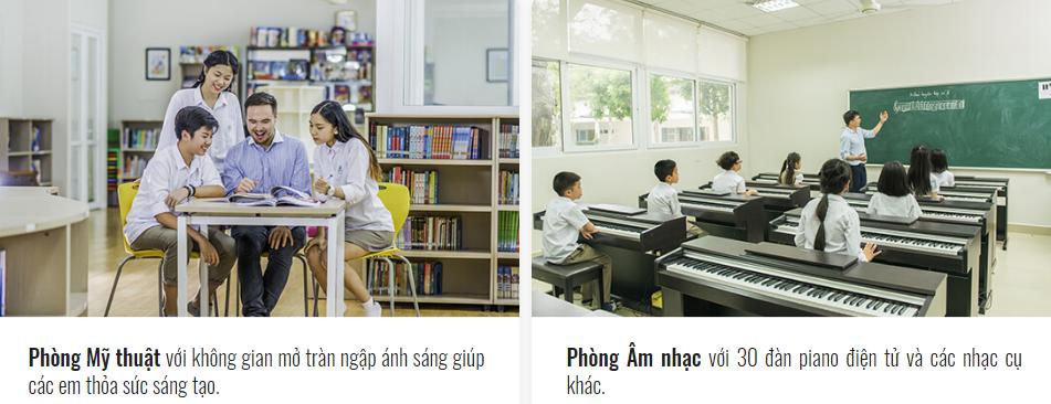 Cơ sở vật chất trường Đoàn Thị Điểm Ecopark - Đoàn Thị Điểm Greenfield tại Hà Nội (Ảnh: website trường)