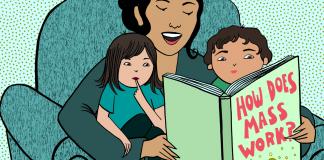 Đọc sách cho 2 bé: Thử thách nhân đôi (Ảnh: Symmetry Magazine)