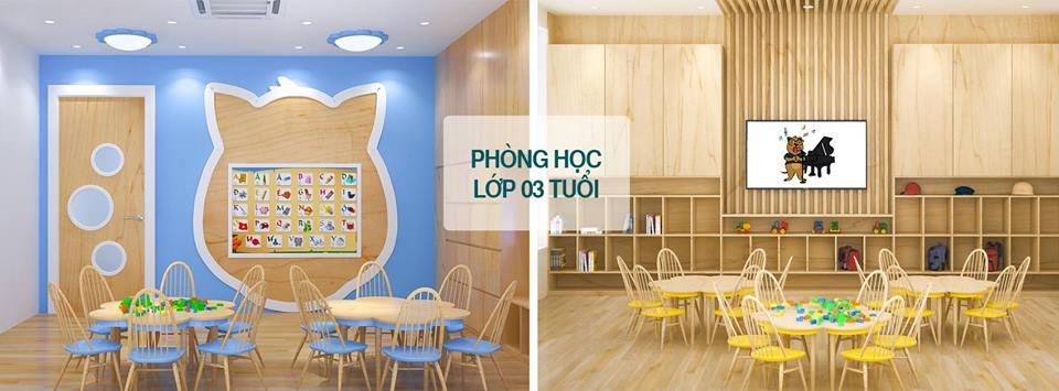 Cơ sở vật chất trường mầm non Dongsim tại quận Bắc Từ Liêm, Hà Nội (Ảnh: FB trường)