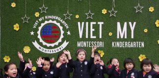trường mầm non Việt Mỹ Montessori tại Hà Nội (Ảnh: FB trường)