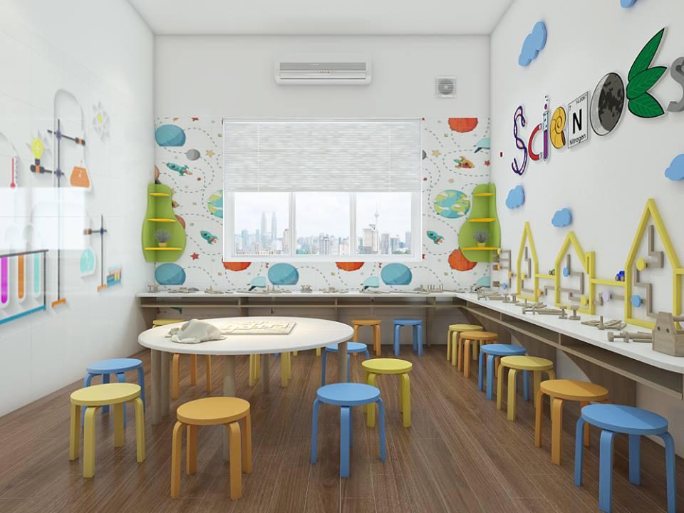 Cơ sở vật chất trường mầm non Harvard Montessori tại quận Đống Đa, Hà Nội (Ảnh: FB trường)