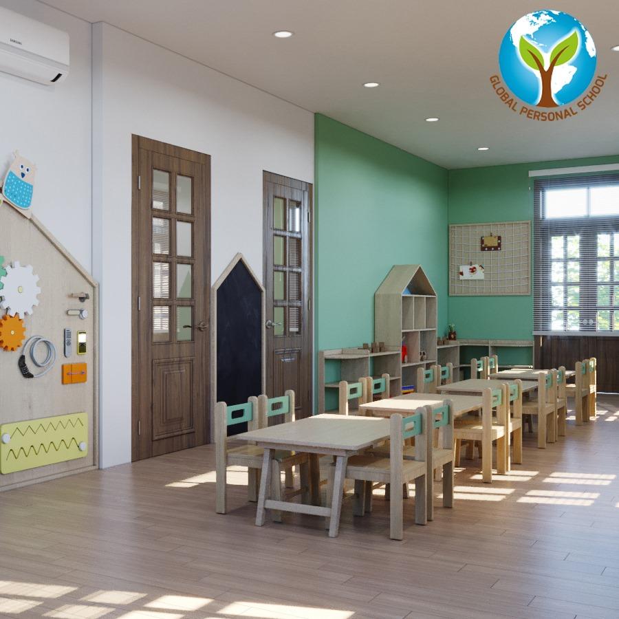 Cơ sở vật chất trường mầm non GPS Montessori tại quận Hà Đông, Hà Nội (Ảnh: FB trường)