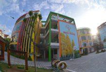 Cơ sở vật chất trường mầm non, Tiểu học Bạch Dương tại quận Hoàng Mai, Hà Nội (Ảnh: FB trường)