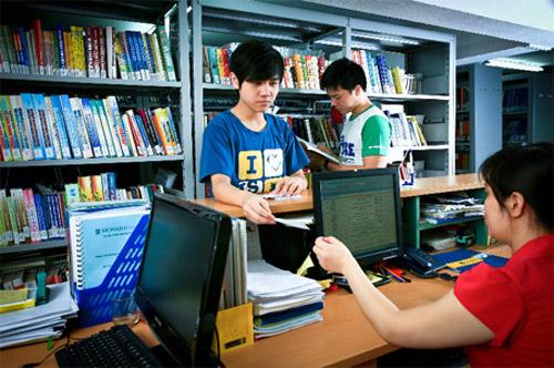 Cơ sở vật chất trường THPT Dân lập Văn Lang, quận Ba Đình, Hà Nội (Ảnh: website nhà trường)