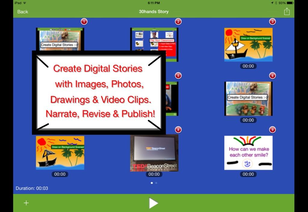 8 công cụ tương tác giúp trẻ làm video cực nhanh (Ảnh: 30hands Learning)