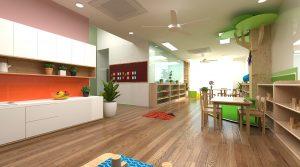 Cơ sở vật chất trường mầm non Việt Mỹ Montessori tại Hà Nội (Ảnh: website trường)