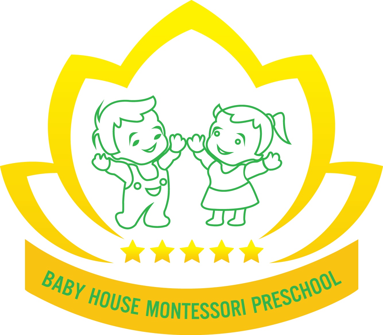 Logo trường mầm non Baby House Montessori tại quận Thanh Xuân, Hà Nội (Ảnh: FB trường)