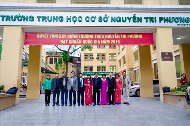 Nguyễn Tri Phương - THCS công lập quận Ba Đình - Hà Nội (Ảnh: website nhà trường)