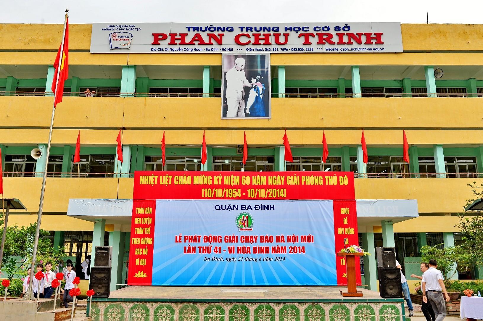 Phan Chu Trinh - THCS công lập quận Ba Đình - Hà Nội (Ảnh: website nhà trường)