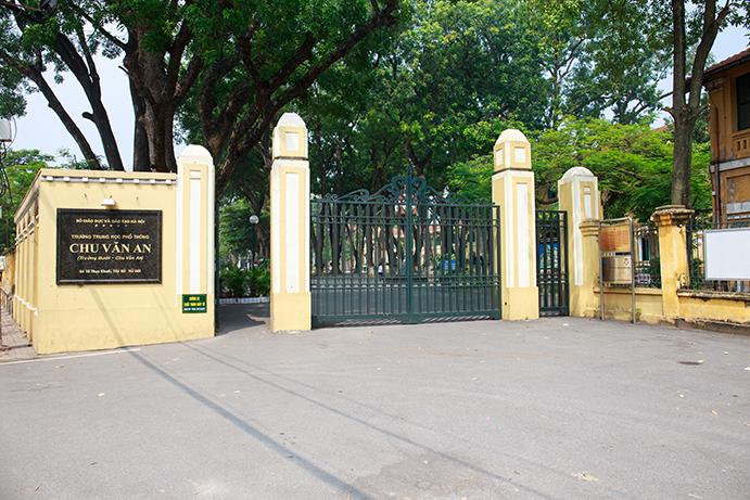Chu Văn An - trường THPT công lập quận Tây Hồ - ngôi trường trăm năm tuổi ở Hà Nội. (Ảnh: website nhà trường)