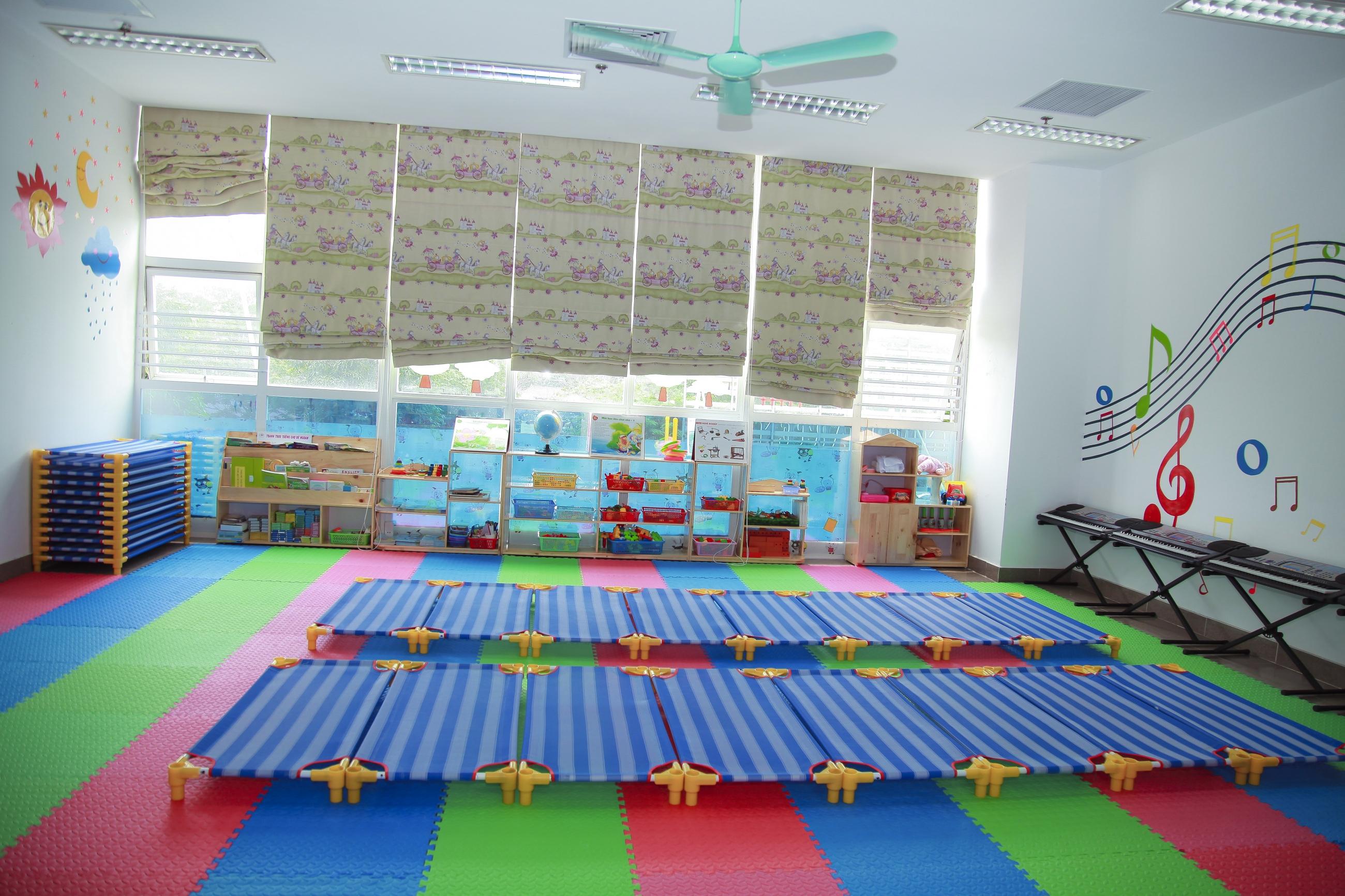 Cơ sở vật chất trường mầm non Funny Kids, quận Cầu Giấy, Hà Nội (Ảnh: website trường)