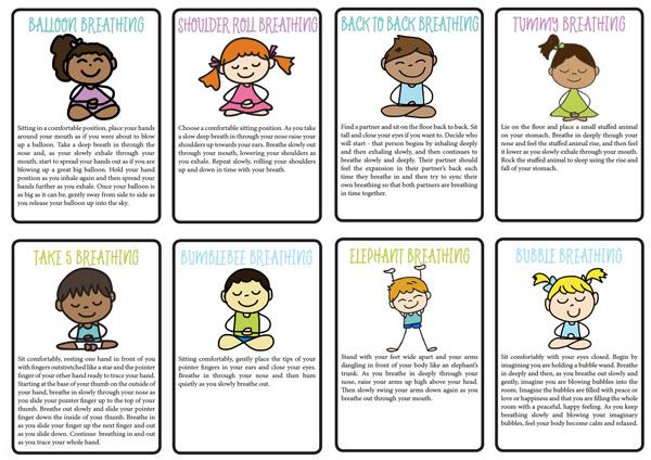 8 bài tập luyện thở giúp trẻ kiểm soát cảm xúc (Ảnh: Pinterest)