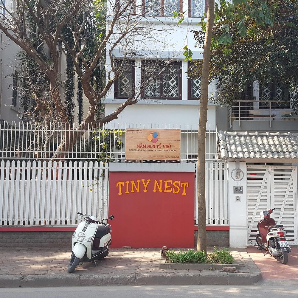 Cơ sở vật chất trường mầm non Tiny Nest - Tổ Nhỏ tại quận Hoàng Mai - Hà Nội (Ảnh: chochungcu.com)