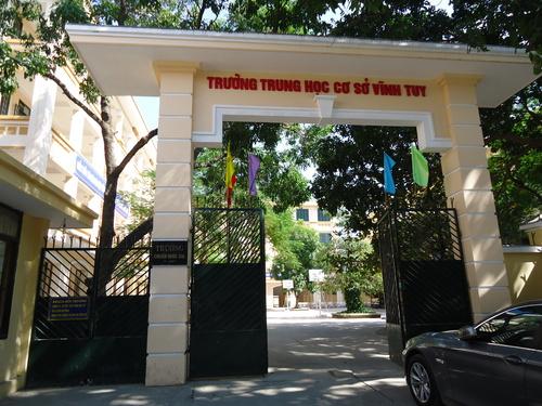 Vĩnh Tuy - Trường THCS công lập quận Hai Bà Trưng, Hà Nội (Ảnh: THCS Vĩnh Tuy Hà Nội)