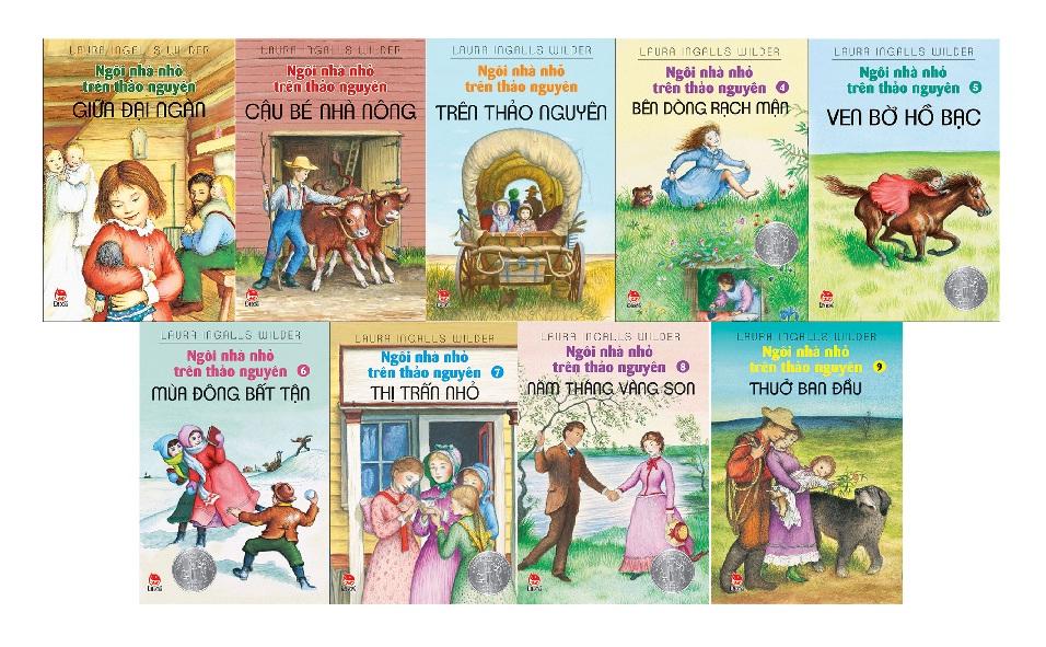 Bộ sách Ngôi nhà nhỏ trên thảo nguyên (Ảnh: CLB Đọc sách cùng con)