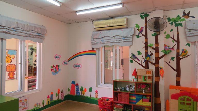 Cơ sở vật chất trường mầm non thực hành Hoa Hồng, quận Đống Đa, Hà Nội (Ảnh: website trường)