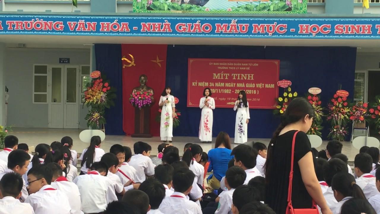 Lý Nam Đế - Trường THCS công lập quận Nam Từ Liêm, Hà Nội (Ảnh: YouTube)