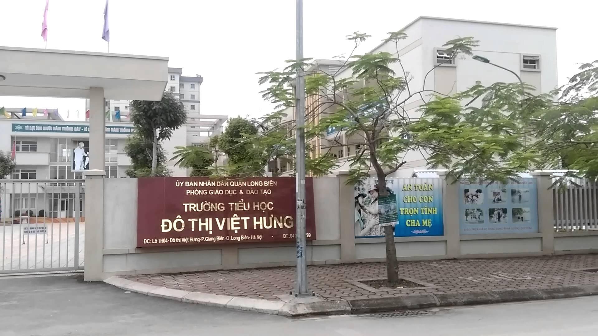 Đô thị Việt Hưng - Tiểu học công lập quận Long Biên, Hà Nội (Ảnh: YouTube)