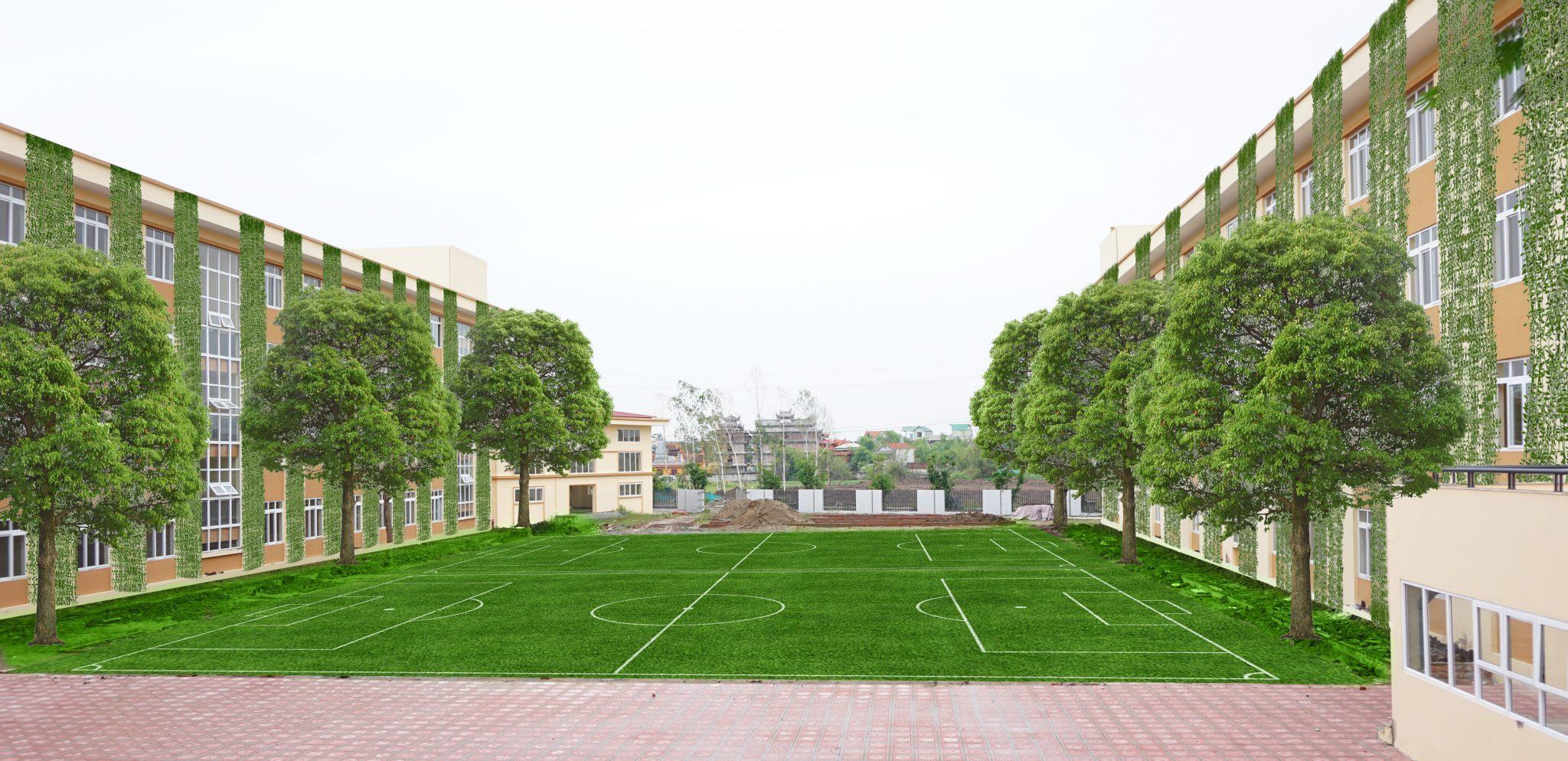 cơ sở vật chất Trường liên cấp Tuệ Đức, khu đô thị Thanh Hà, huyện Thanh Oai, Hà Nội (Ảnh: BKE)