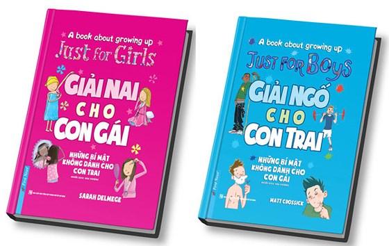 Bộ sách Giải nai cho con gái, Giải ngố cho con trai (Ảnh: Sài Gòn Giải Phóng Online)