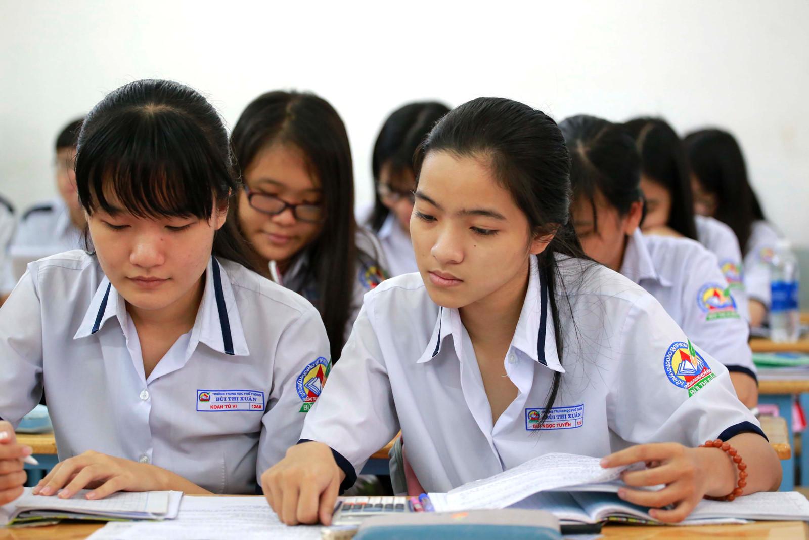 Học tập ở cấp 3 có sự khác biệt so với bậc Trung học Cơ sở.