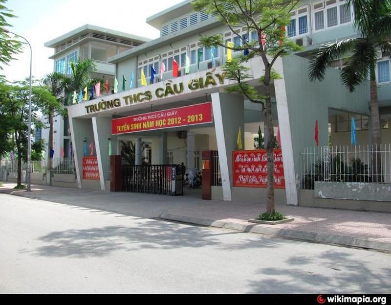 Cơ sở vật chất trường THCS Cầu Giấy, trường công lập chất lượng cao quận Cầu Giấy, Hà Nội (Ảnh: Wikimapia)