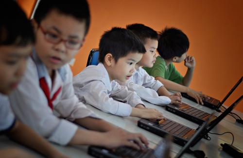 Cơ sở vật chất trường Nguyễn Văn Huyên, trường dân lập liên cấp từ mầm non tới THPT, quận Đống Đa, Hà Nội (Ảnh: Webtretho)