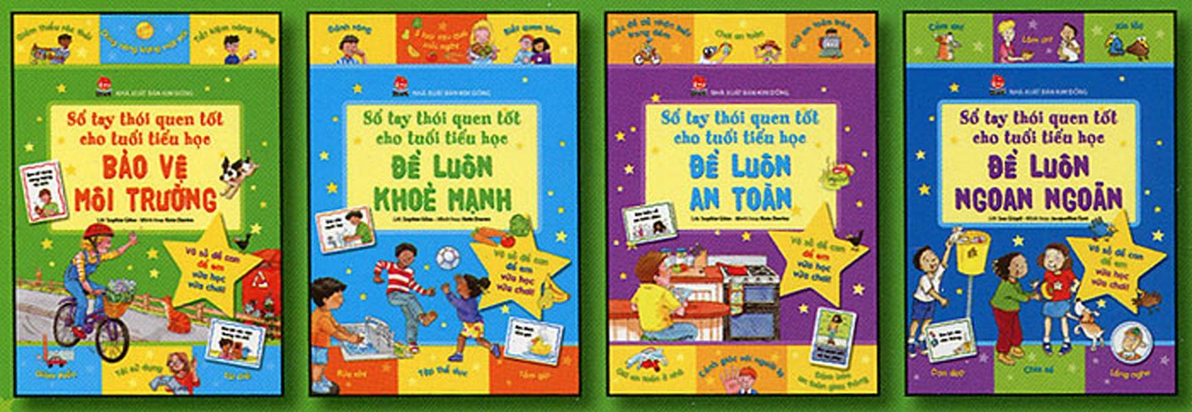 Bộ sách Sổ tay thói quen tốt dành cho trẻ tiểu học (Ảnh: NXB Kim Đồng)