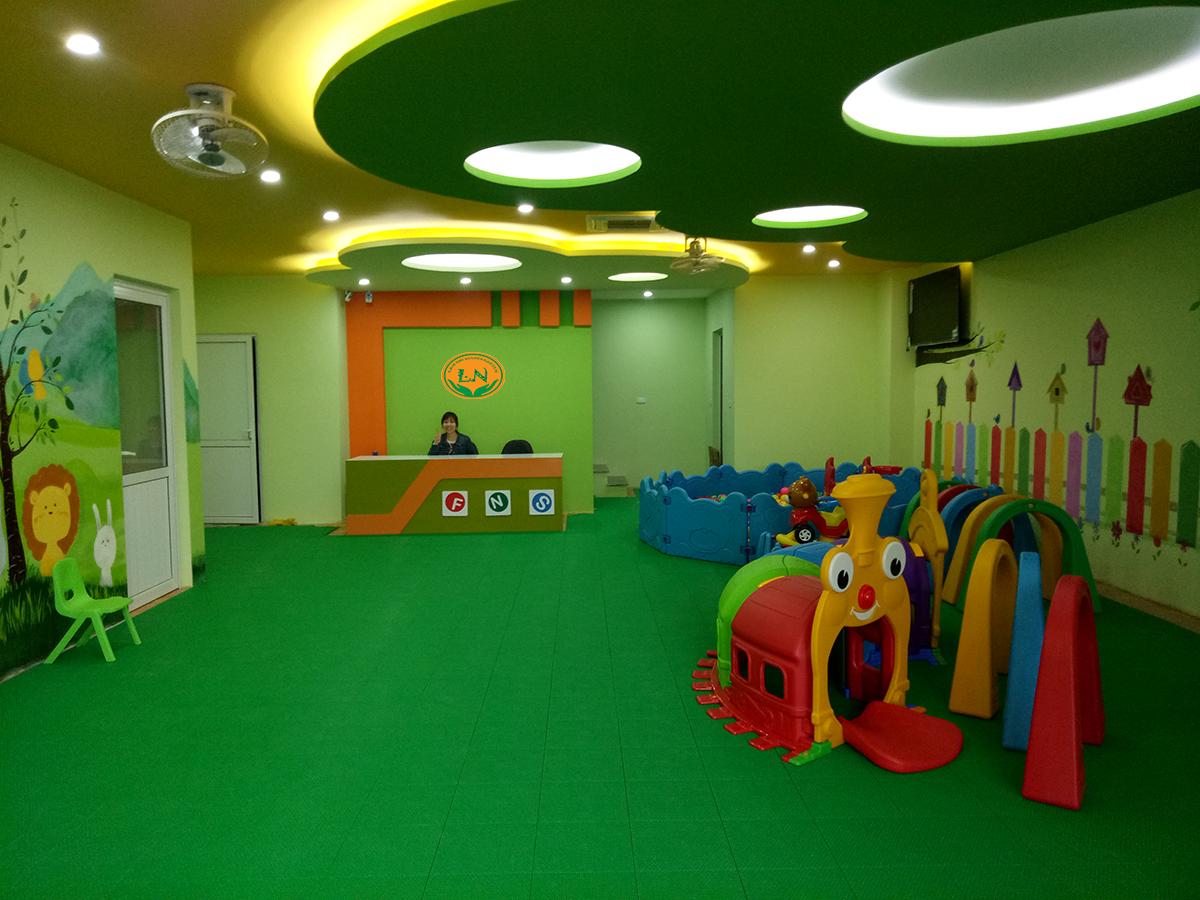 Cơ sở vật chất trường mầm non Lâm Nhi tại huyện Đan Phượng, Hà Nội (Ảnh: website trường)