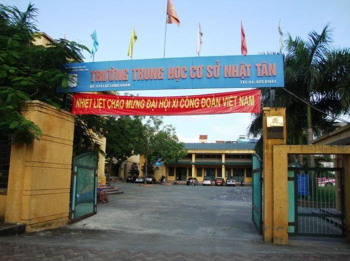 Nhật Tân - Trường THCS công lập quận Tây Hồ, Hà Nội (Ảnh: Wikimapia)